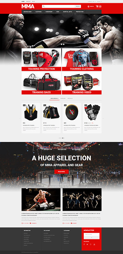 Martial Arts PrestaShop Theme