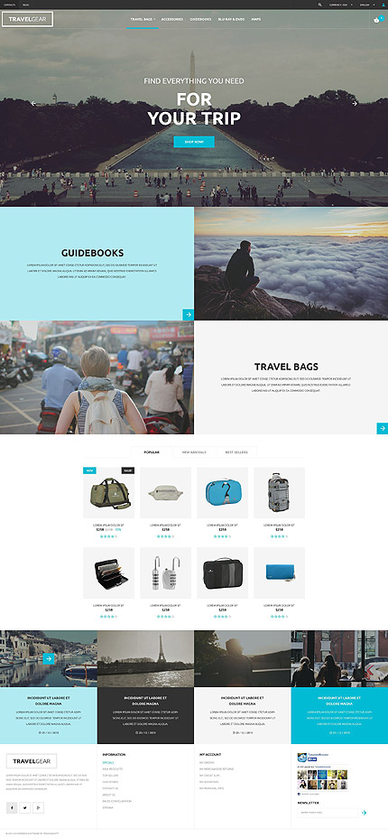 Travel Shop PrestaShop Theme