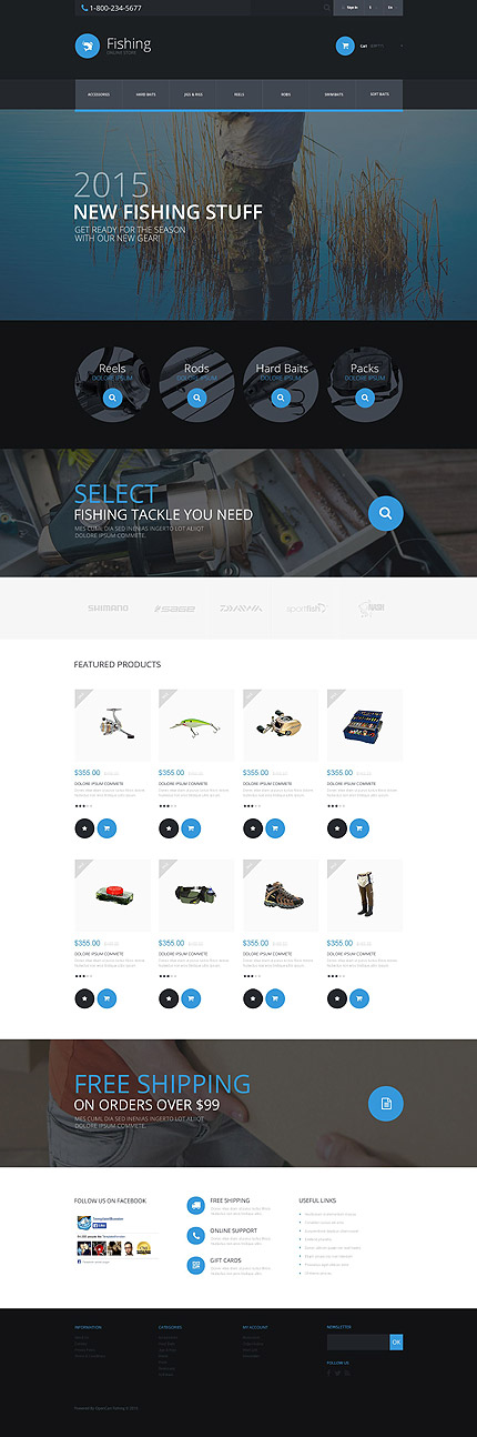 Fishing Store PrestaShop Template