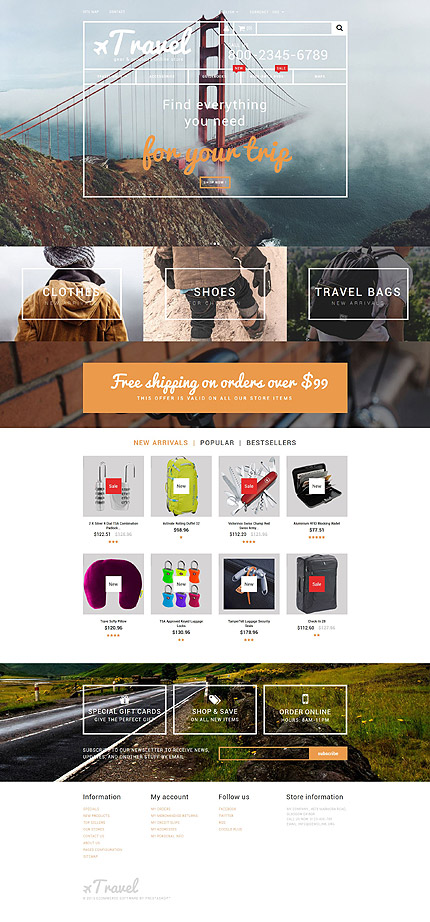 Travel Gear PrestaShop Theme