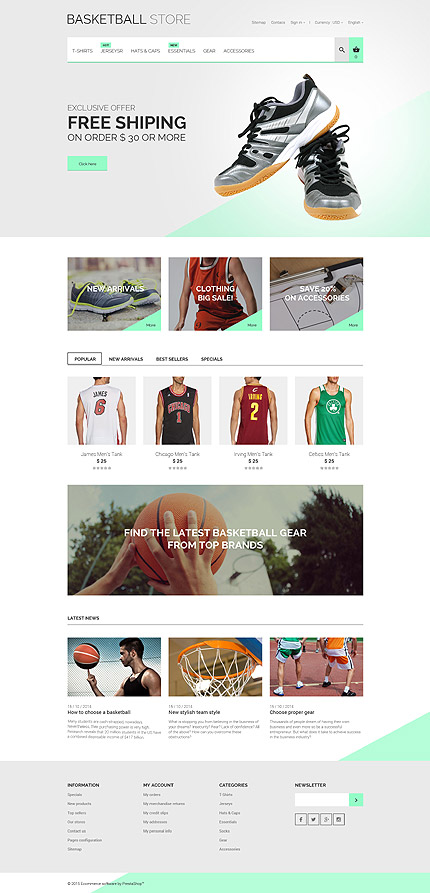 Basketball PrestaShop Theme