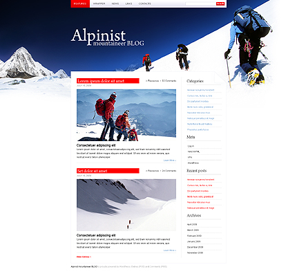 Climbing WordPress Theme