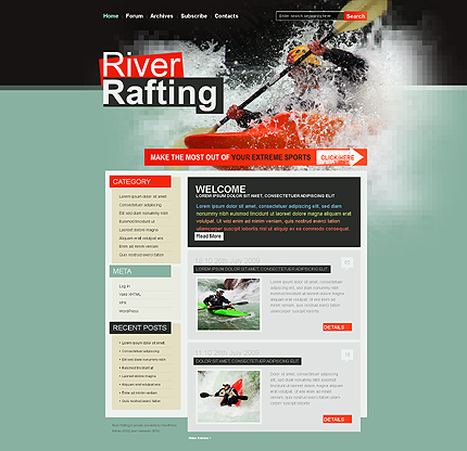 Rafting WordPress Theme