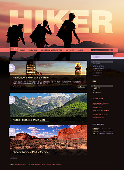 Hiking WordPress Theme