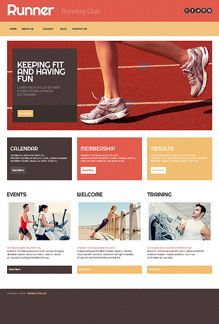 Running Sport WordPress Theme