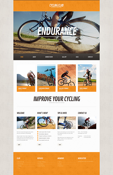 Cycling Responsive WordPress Theme