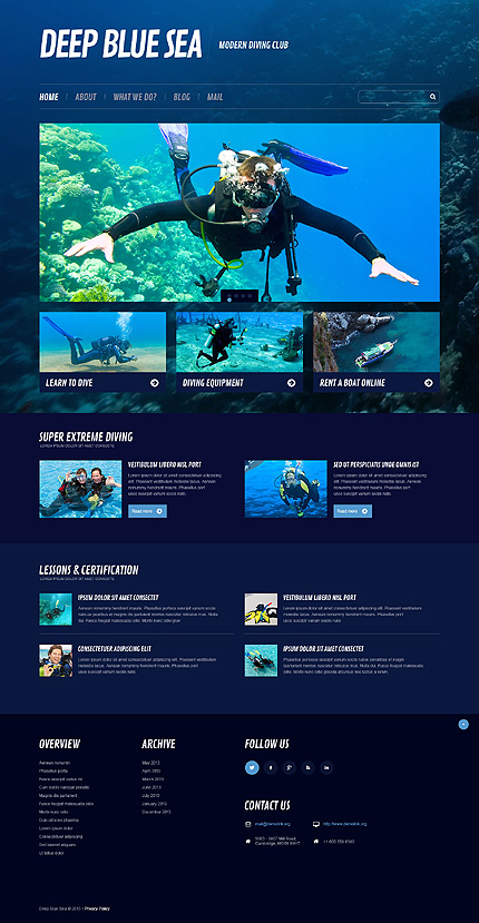 Diving Responsive WordPress Theme
