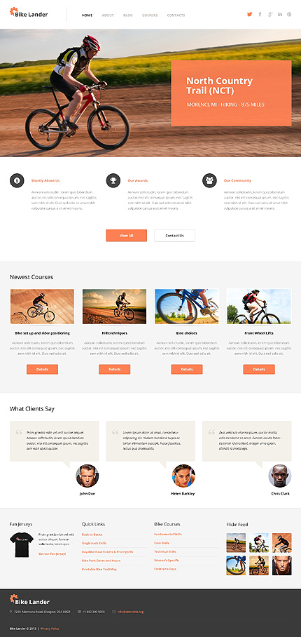 Biking WordPress Theme