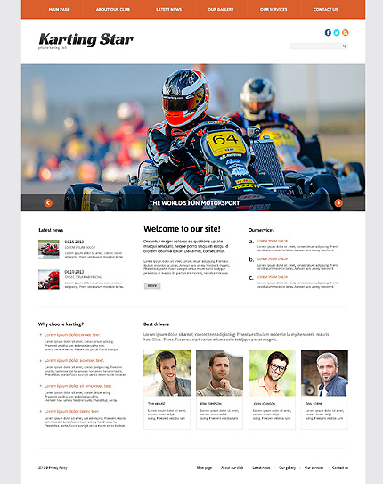 Karting WordPress Theme