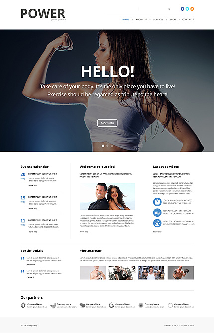 Bodybuilding Responsive WordPress Theme