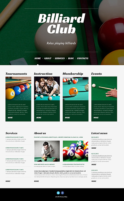 Billiards WordPress Theme