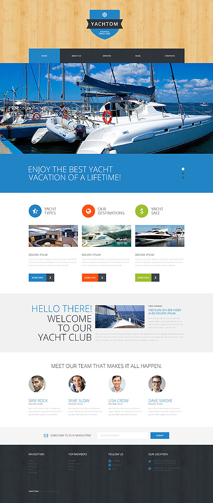 Pleasant Yachting Experience WordPress Theme