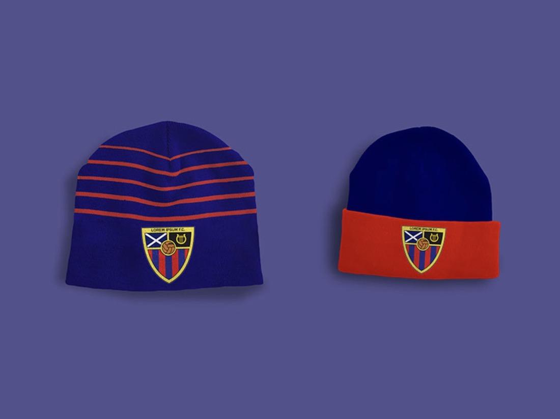 sports team beanie hat mockup