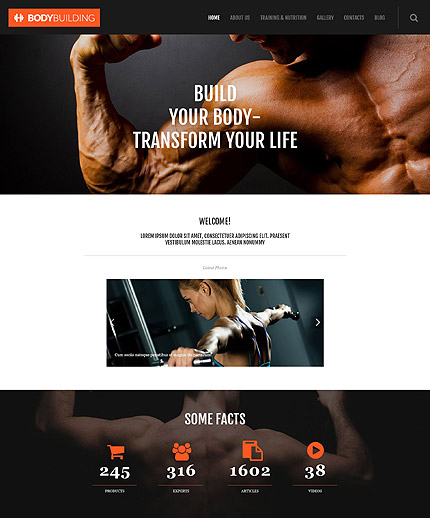 Fitness Responsive WordPress Theme