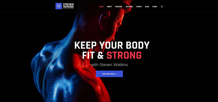SPersonal Gym Trainer & Nutrition Coach WordPress Theme