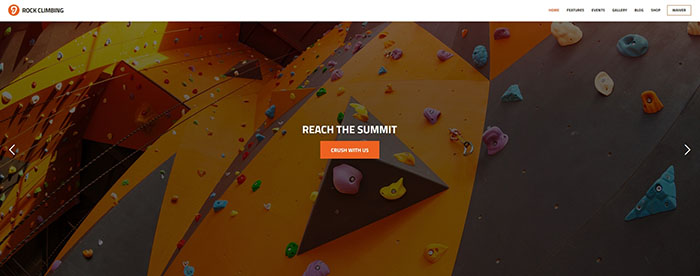 Rock & Wall Climbing / Sport Club WP Theme