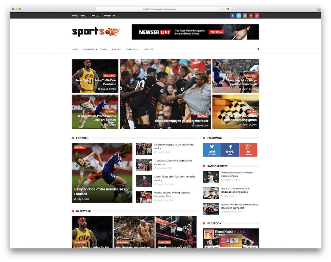 sportsmag free blogger template