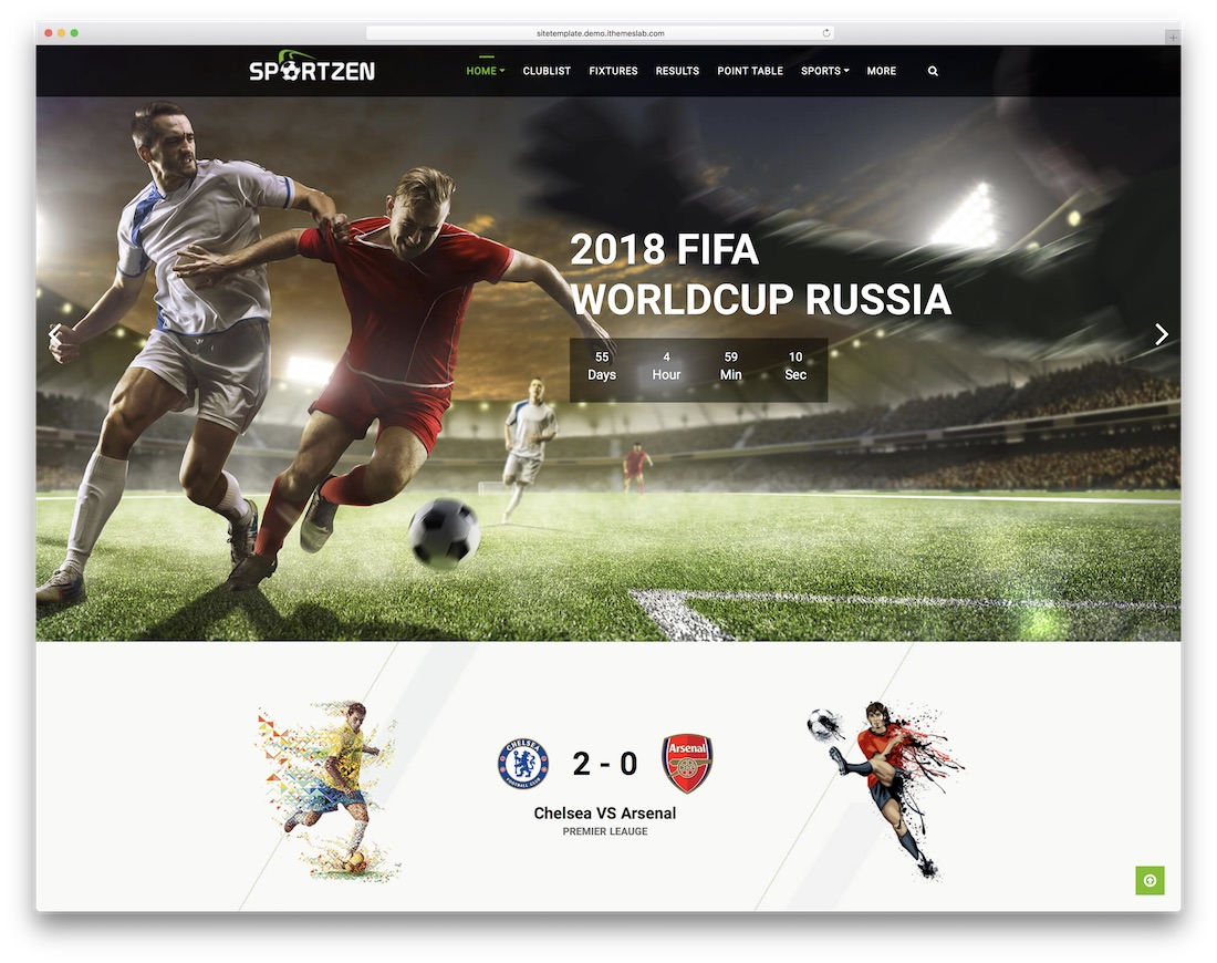 sportzen community website template