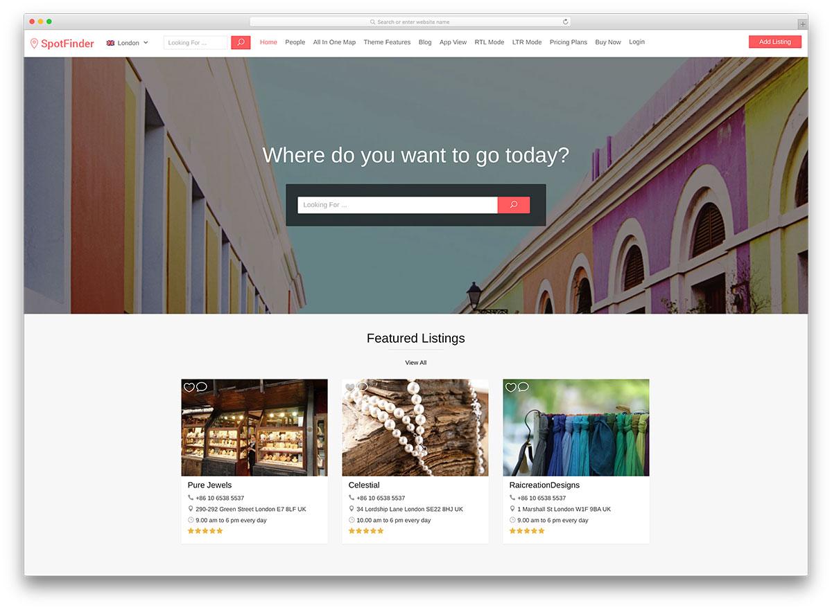 spotfinder-minimal-directory-wordpress-theme