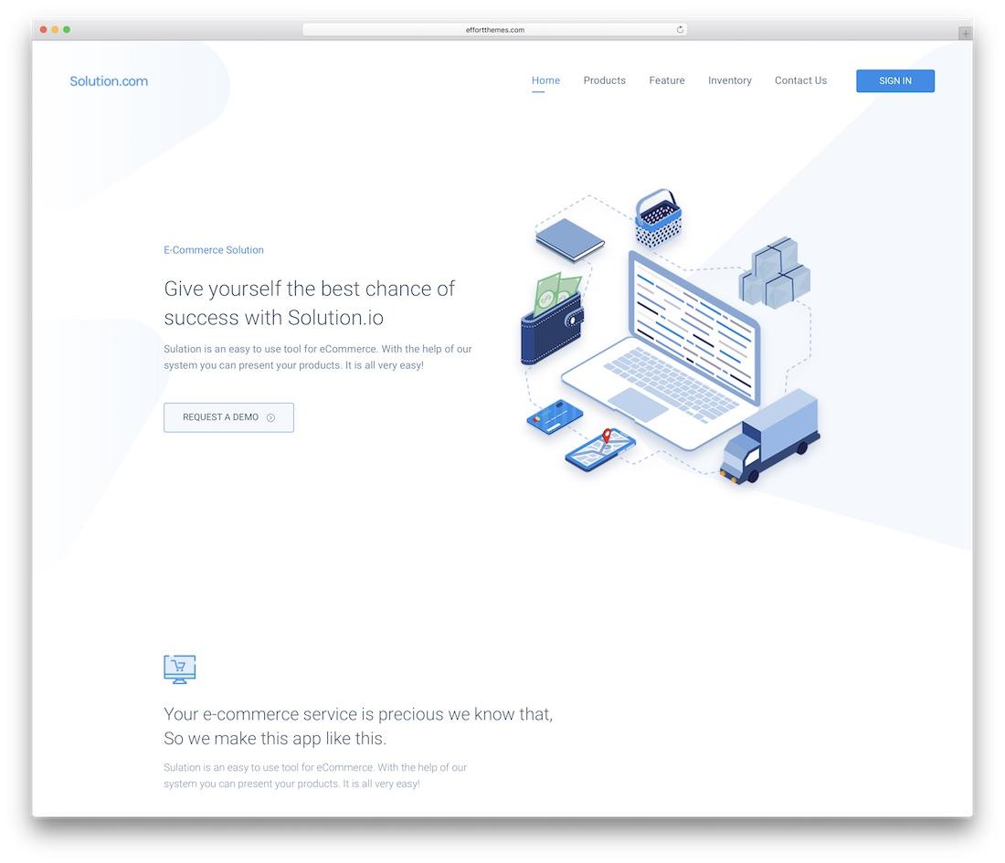 spring business website template
