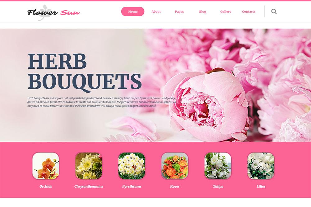flowers Joomla template