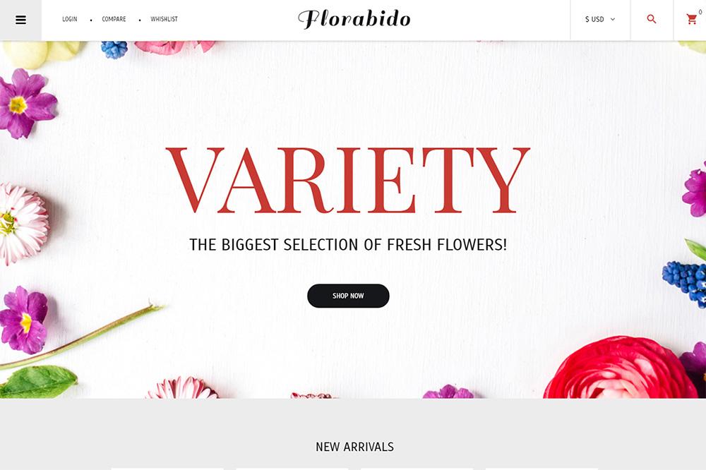 Flower Shop Responsive VirtueMart Template