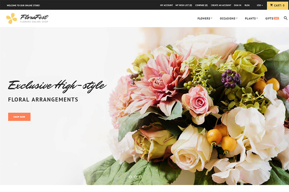 Flower Shop Magento 2 Theme