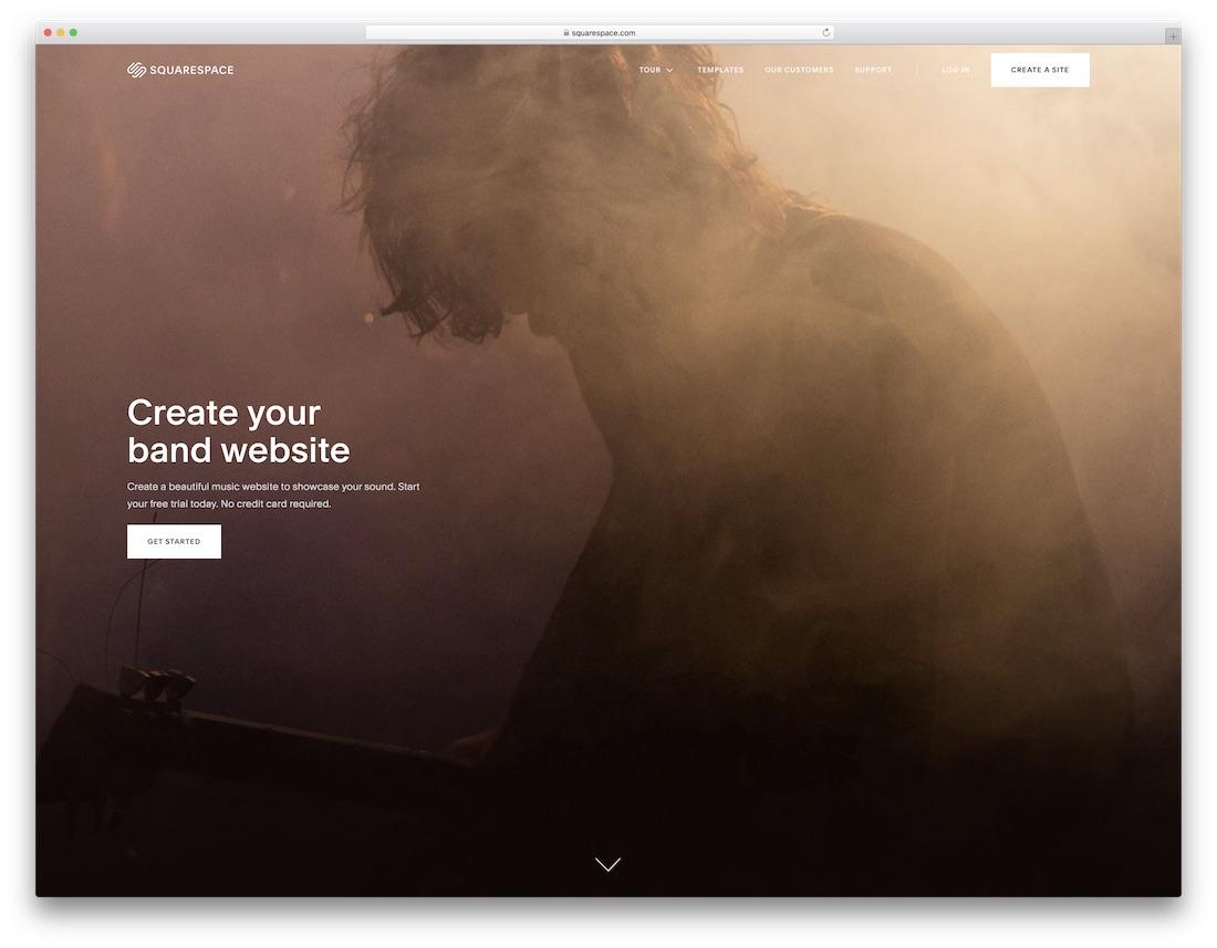 sqaurespace musician website builder
