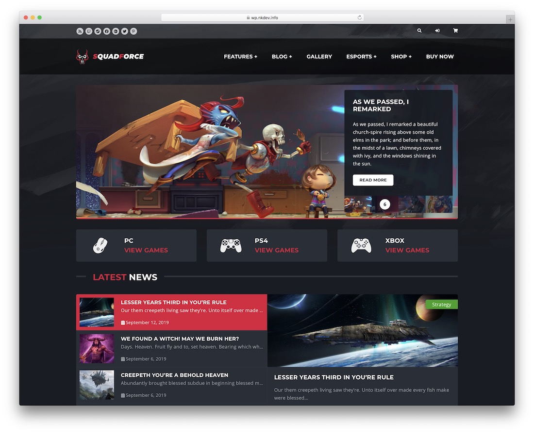 squadforce wordpress bbpress forum theme