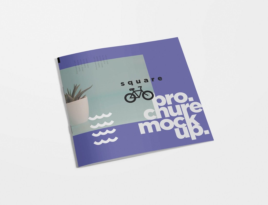 19 Square Brochure Mockup Designs 2019