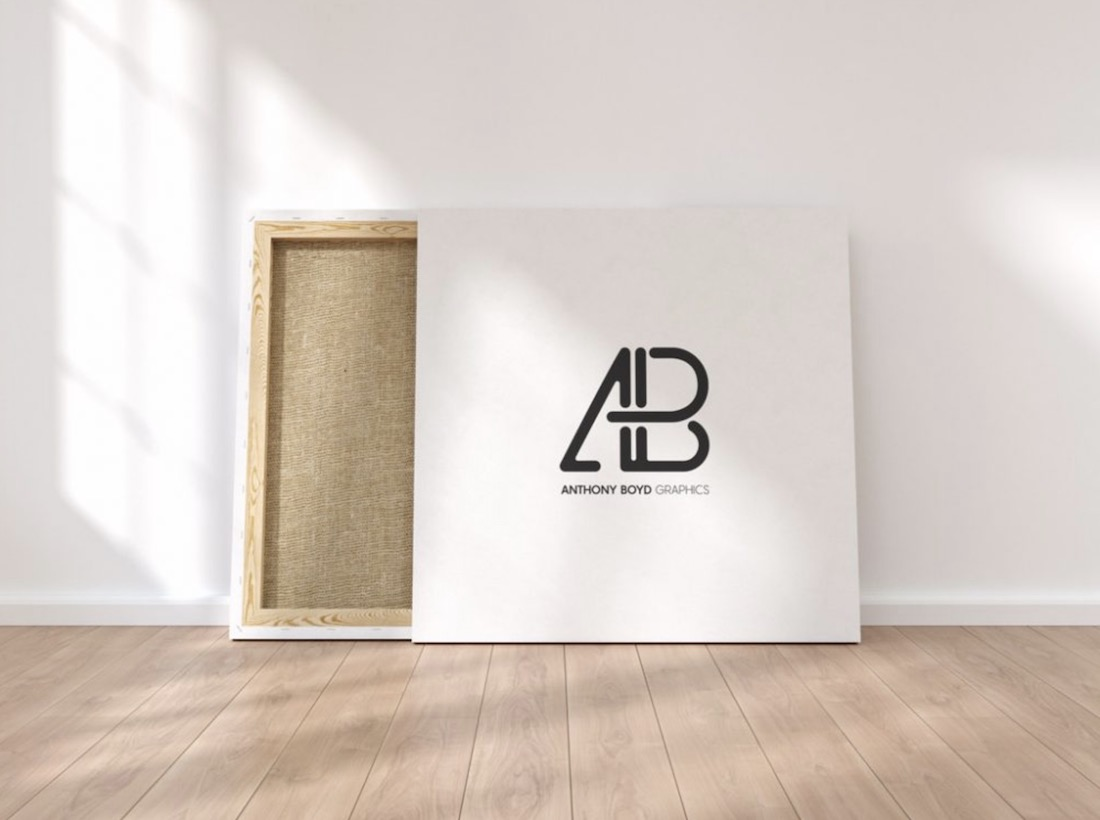 square canvas mockup freebie