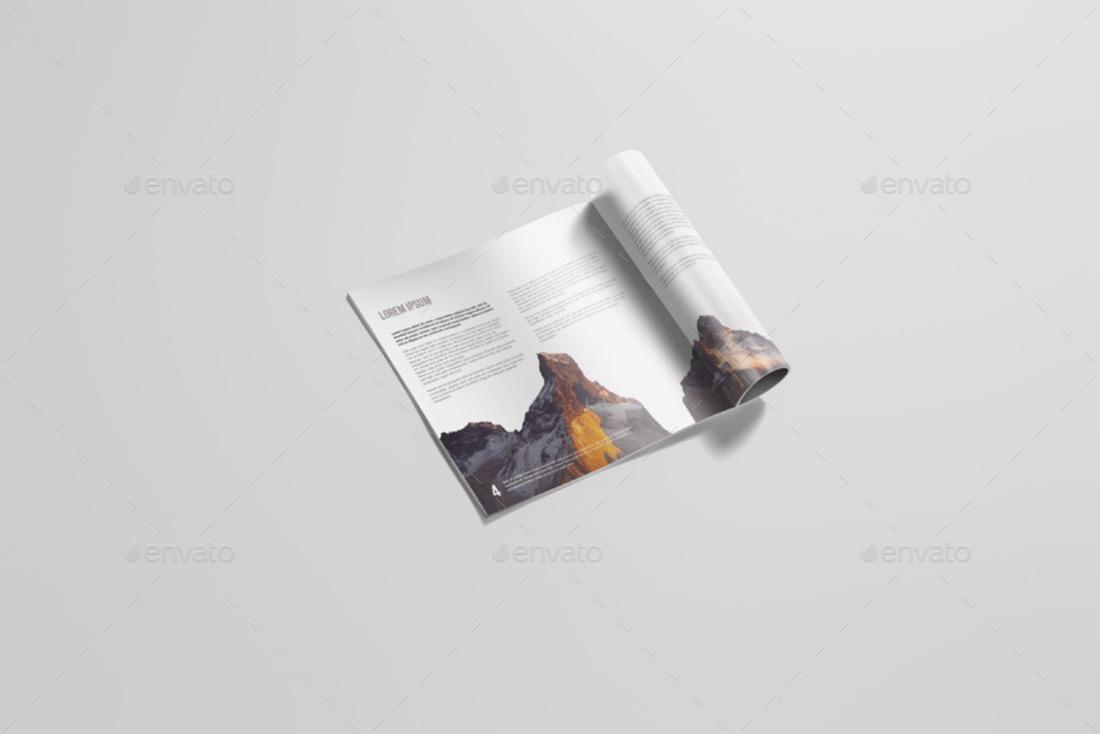 square magazine mockup template