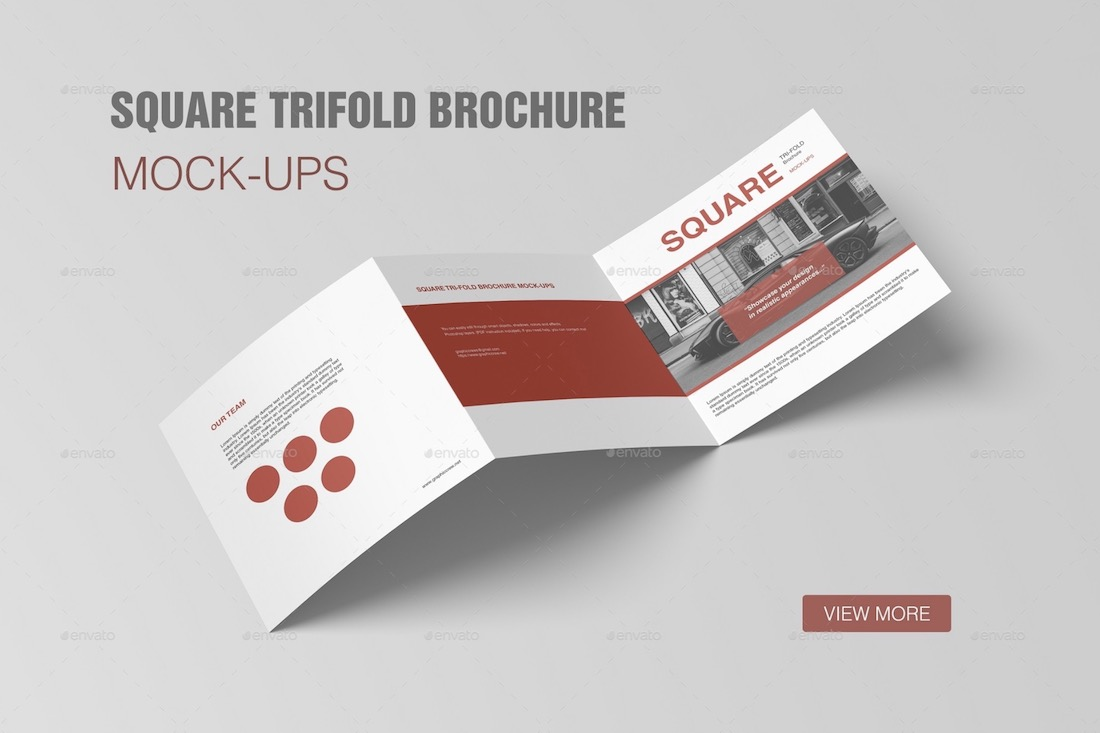 square trifold brochure mockup template