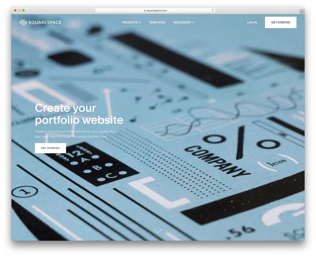 squarespace build portfolio website