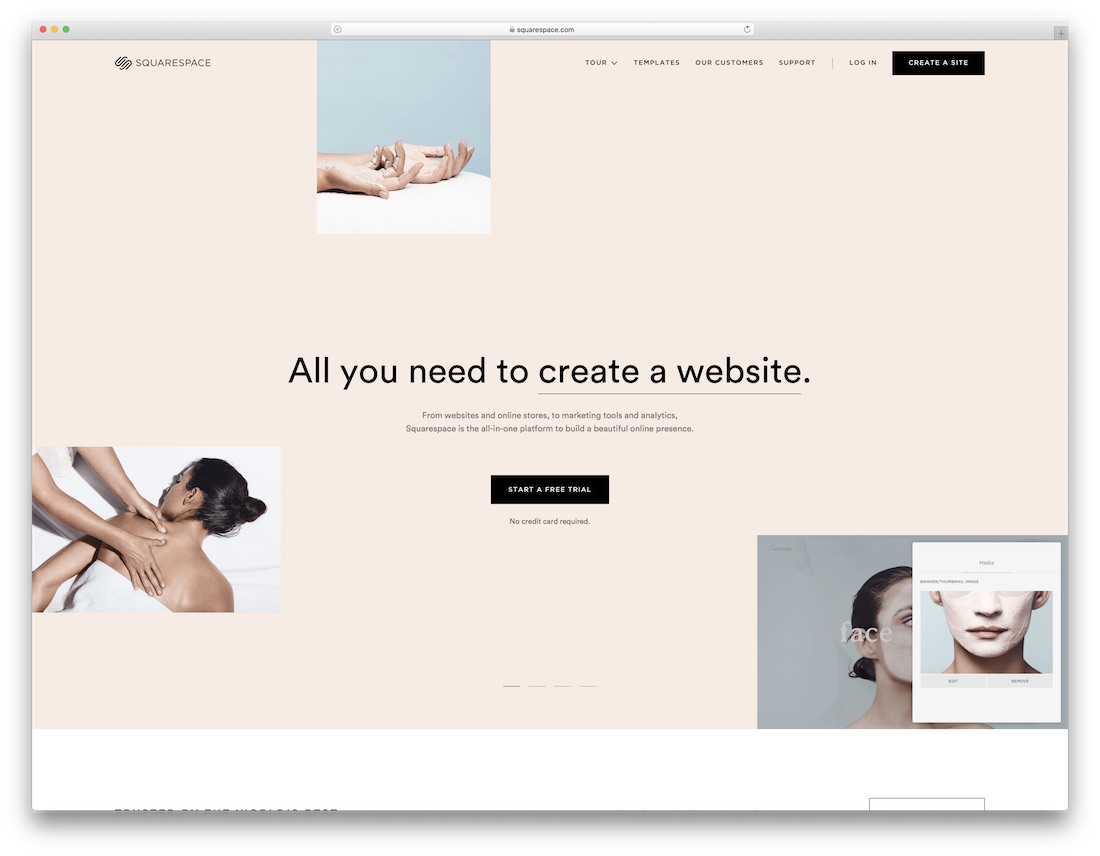 squarespace insurance website builder