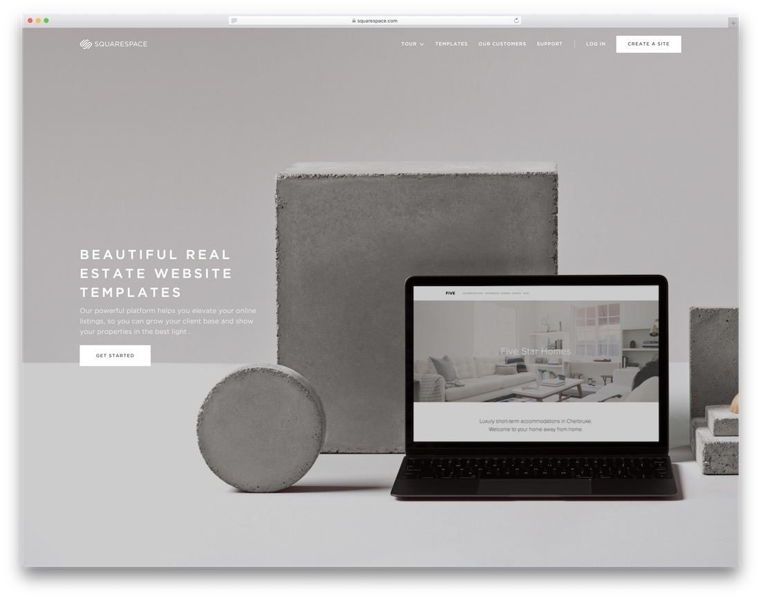 squarespace real estate agent website builder