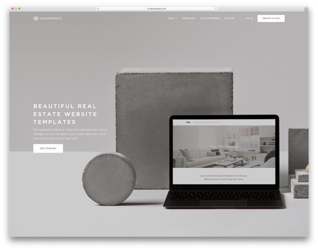 squarespace real estate agent website builder