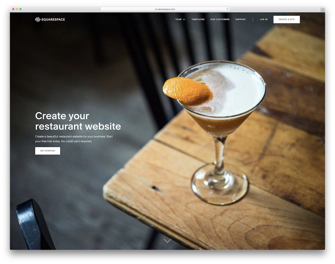 squarespace restaurant website builder