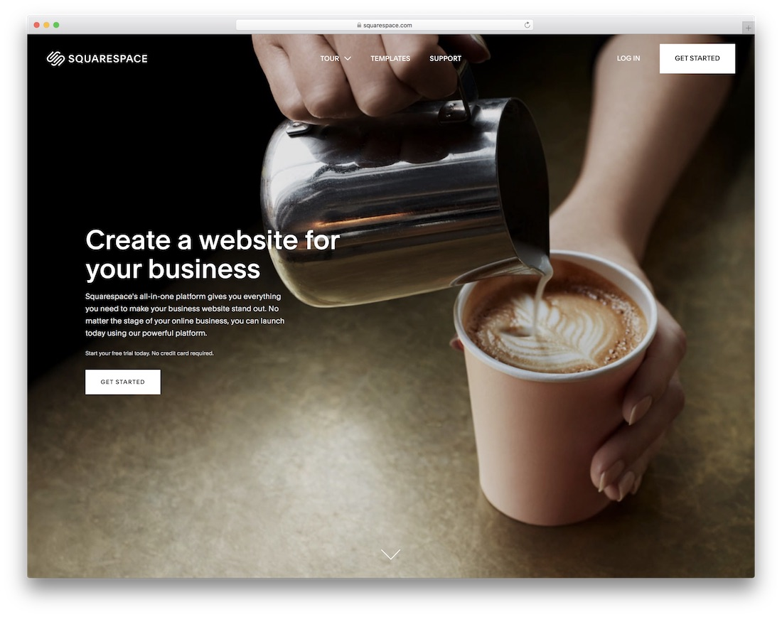 squarespace website builder for construction company