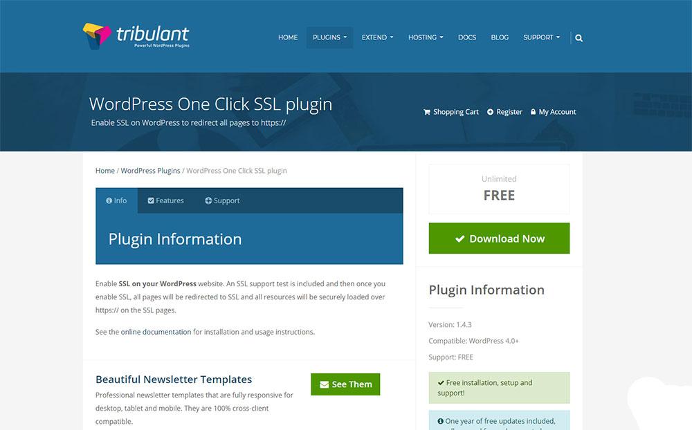 WordPress One Click SSL plugin