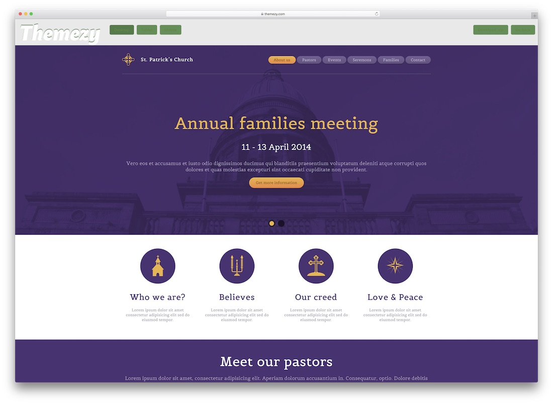 st patricks church website template