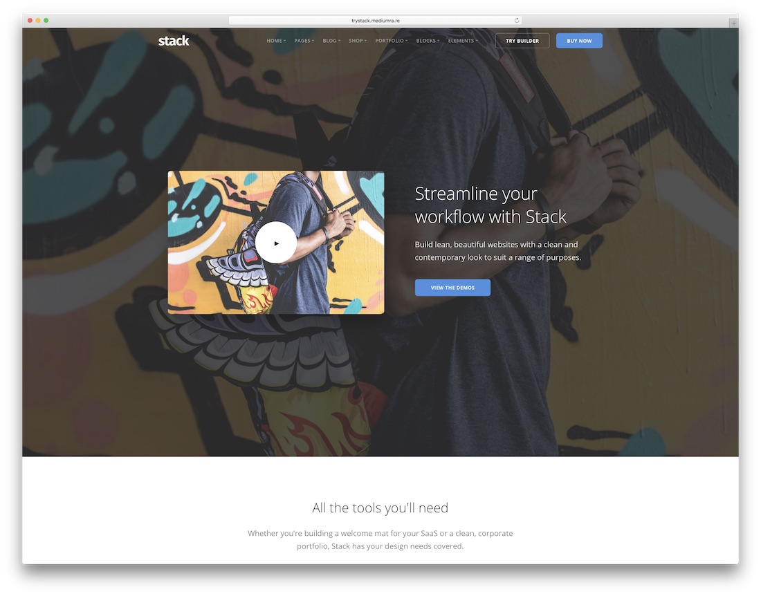 stack mobile friendly website template