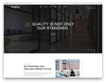 Staging Free Template