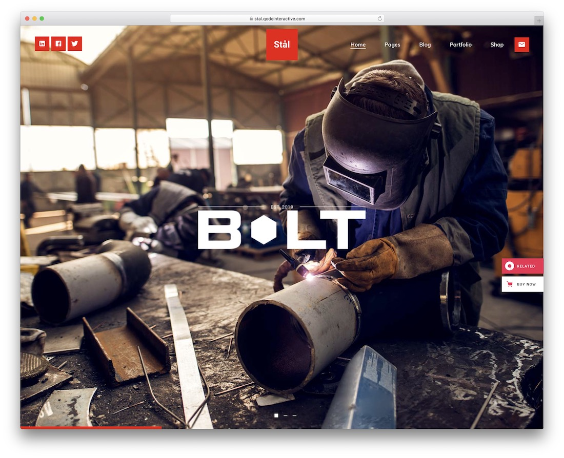 stal welding website template