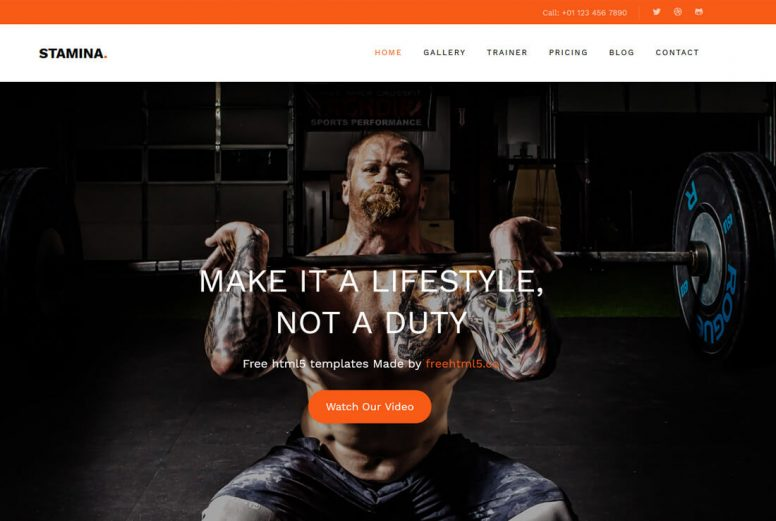 20 Best Free Fitness Website Templates To Make A Solid Website
