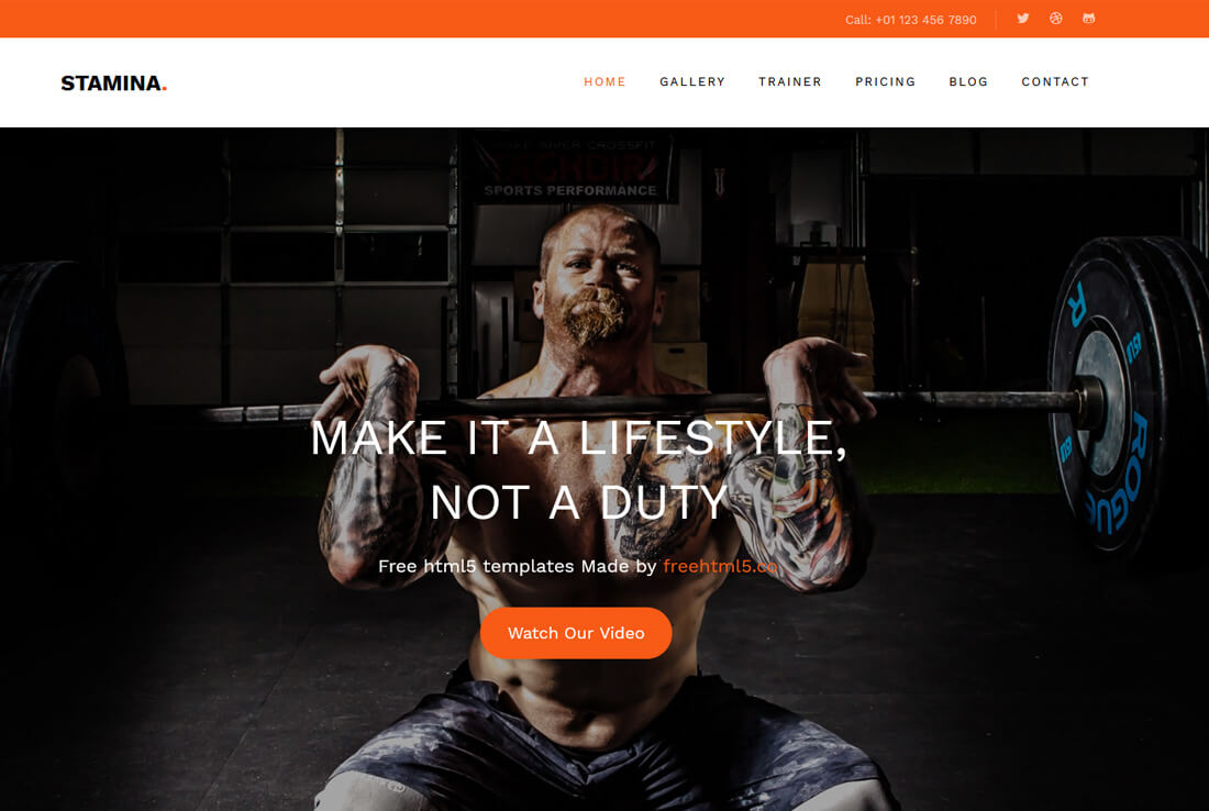 20 Best Free Fitness Website Templates To Make A Solid Website  Fitness Templates Free