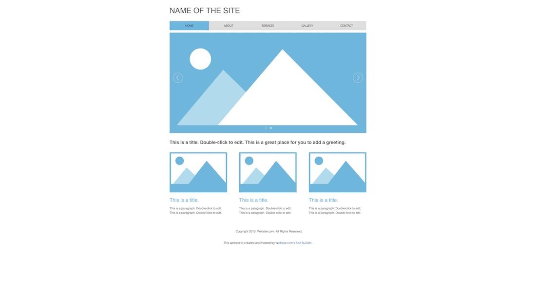 standard blank website template