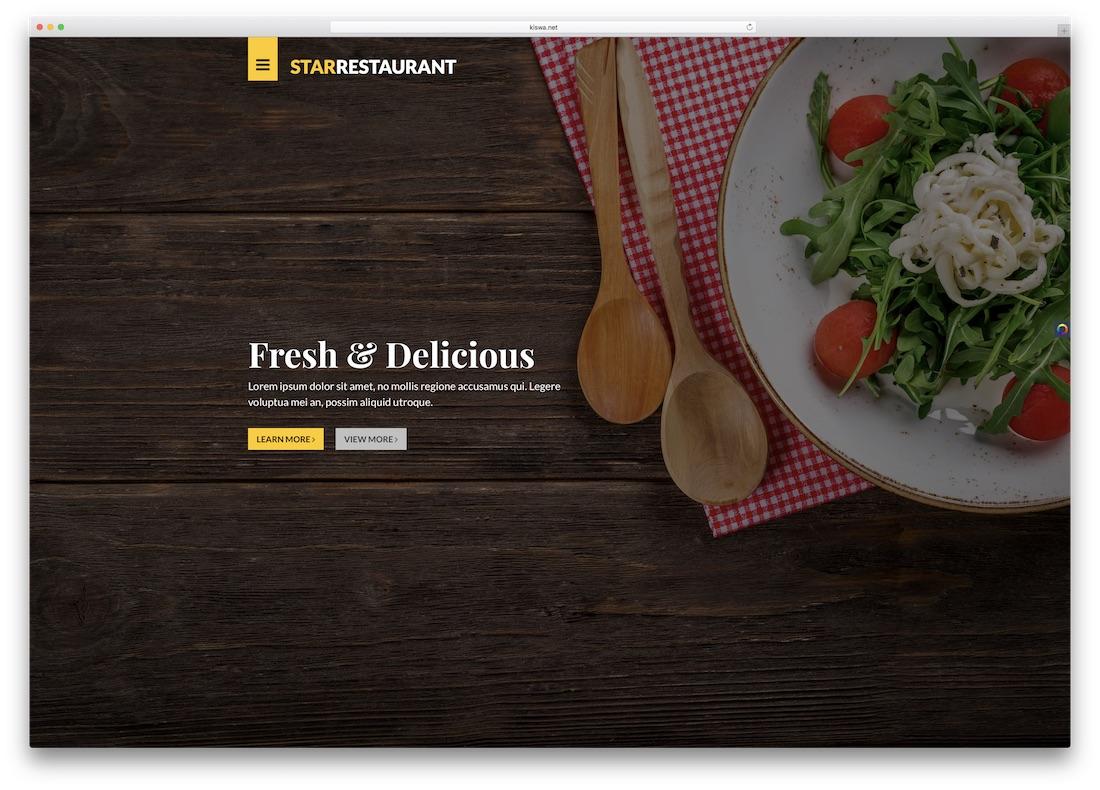 24 best html5 restaurant website templates 2019