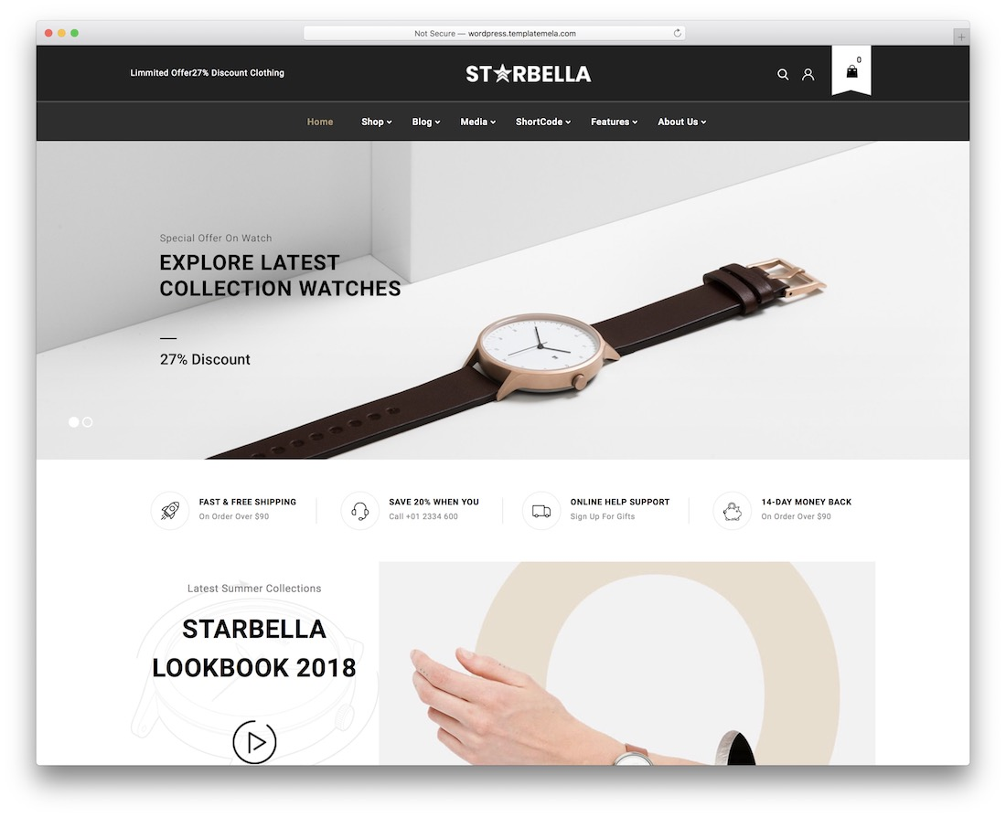 starbella mobile-friendly ecommerce theme