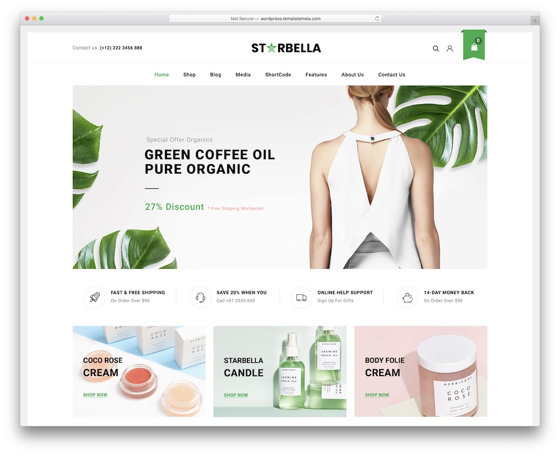 starbella wordpress starter theme
